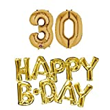 30th birthday party balloons supplies and decorations in Gold