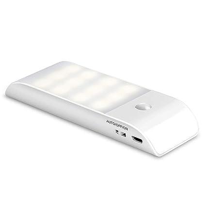 BenCreative Luz de Sentido del Movimiento LED luz de luz Recargable Noche luz para Armario,