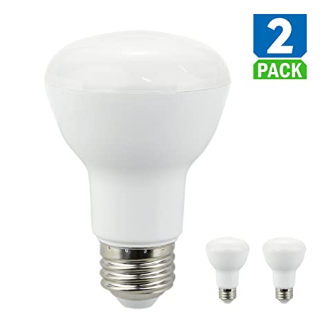 Lote de 2 bombillas LED luz BR20 5000 K blanco intensidad regulable – 7,5