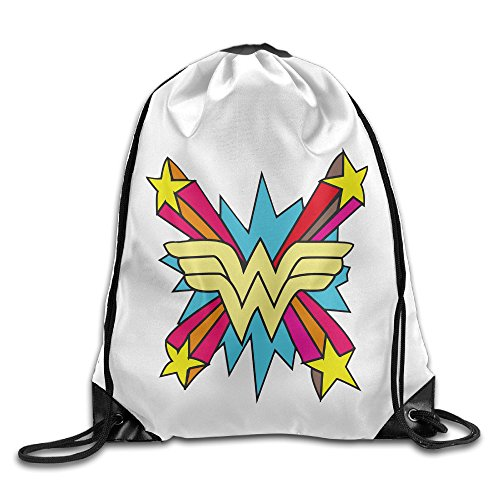 [Bekey Colorful Wonder Logo Drawstring Backpack Sport Bag For Men & Women For Home Travel Storage Use Gym Traveling Shopping Sport Yoga] (John Paul Jones Costumes)