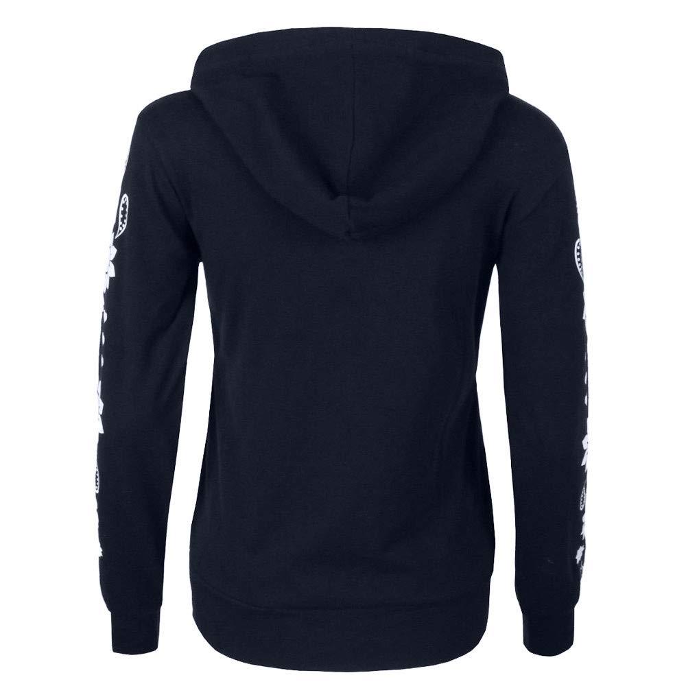 Langarm Sweatshirt Loose Langarm T-Shirt Wrap Asymmetrische Pullover Klassisch Pulli f/ür das Reisen von ABsoar Damen Langarmshirt