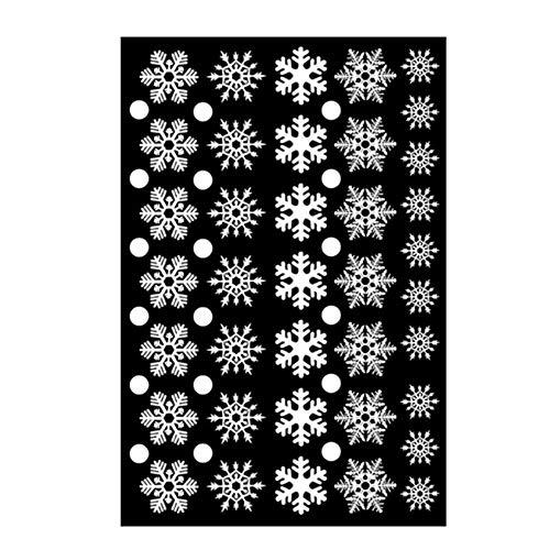 Haihuic 56 Piezas de Copo de Nieve Navideño Etiqueta de la Ventana, Pegatinas de Pared para Vacaciones, Decoraciones de...