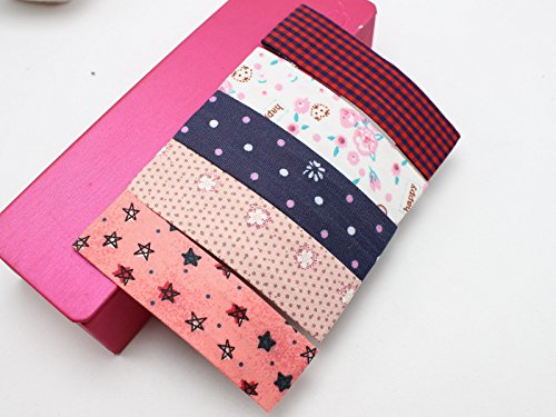 - 10 Assorted Dots Grid Flower Fabric Square Snap Hair Clips Big Baby Bows 80mm