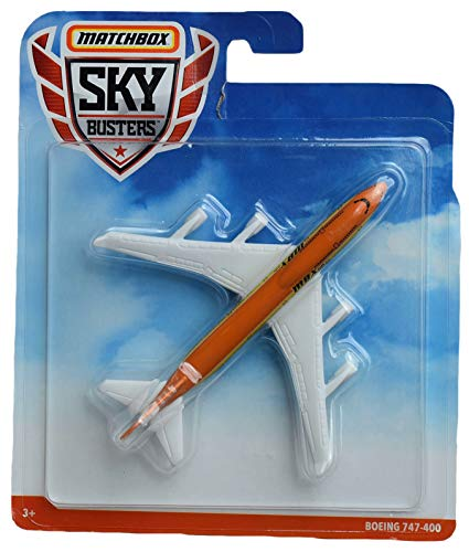 Matchbox Sky Busters Boeing 747 400, Orange/White