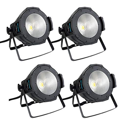 BETOPPER 100W COB Par Lights Stage Washing Lighting (4pcs Pack) ()