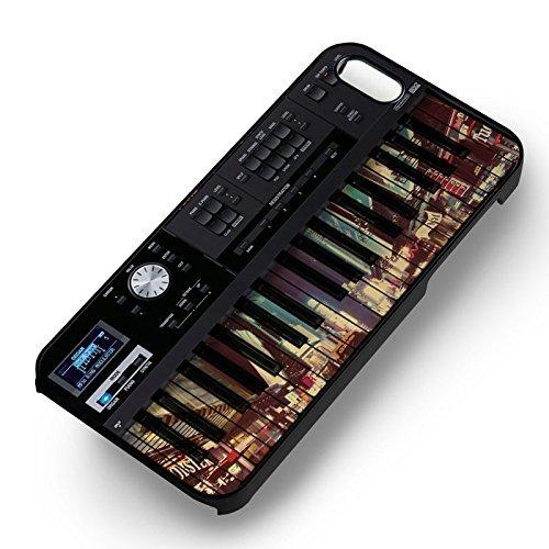 Piano Town Scenery pour Coque Iphone 6 et Coque Iphone 6s Case (Noir Boîtier en plastique dur) C1E5VI