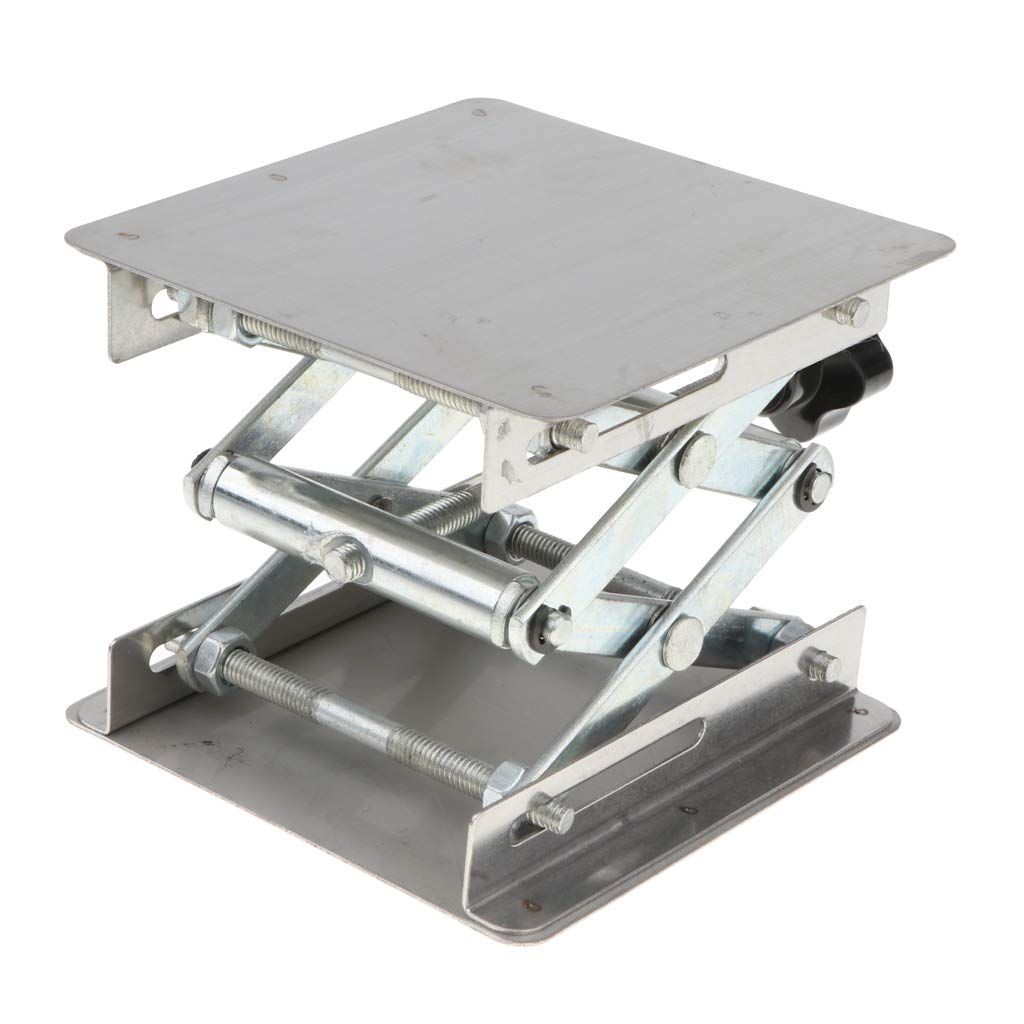 Homyl Laboratory Stand Table Scissor Lift Laboratory Stainless Steel Lab Jack 100x100mm Experiment Tool