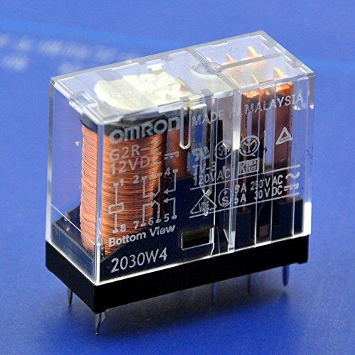 g2r-2 Electronics-Salon 2pcs 5 A DPDT Relais de puissance 12 V DC.