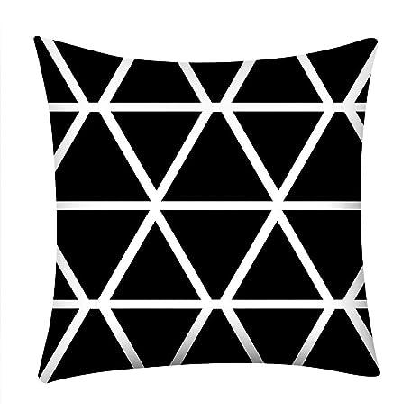 Memefood Fundas De Cojines Decorativos Blanco Negro De ...