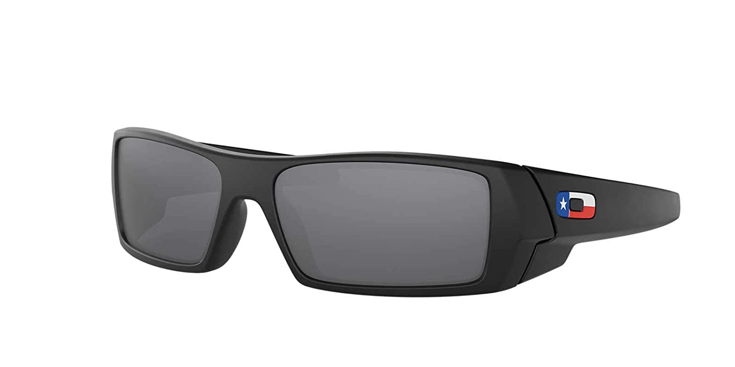 Amazon.com  Oakley Gascan Sunglasses Matte Black   Black Iridium Lens    Texas Flag   60mm  Clothing 0560a56e06