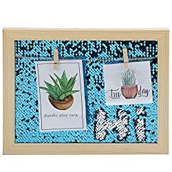 Sequins Picture Frames with Clip Hold