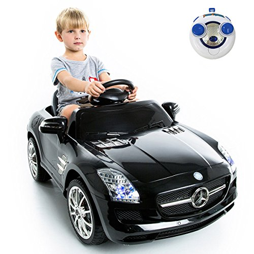 Costzon mercedes benz sls kids ride on car rc battery toy for Mercedes benz kids
