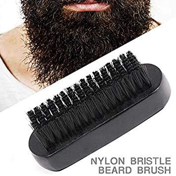Men Soft Bristle Beard Brush Hair Mustache Comb Oval Bamboo Handle Beard Shaping Tool Fashion For Improving Blood Circulation Hair Care & Styling