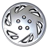 2009 toyota corolla s hubcaps - TuningPros WC-15-9054-S 15-Inches-Silver Improved Hubcaps Wheel Skin Cover Set of 4