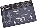 TekMat 11-Inch X 17-Inch Handgun Cleaning Mat with Sig Sauer P226 Imprint, Black