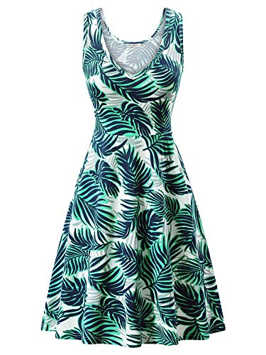 HUHOT Sun Dresses for Women Beach Teopical Vacation Dresses Large