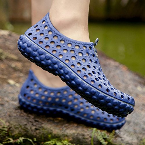 Bovake Barefoot Shoes ★| Soft Quick-Drying Rubber Aqua Breathable Lightweight Mesh Skin Walking Shoes - Swim Yoga Beach Running Snorkeling Surf Scuba Diving Socks - Water Shoes for Unisex Blue tI3QU