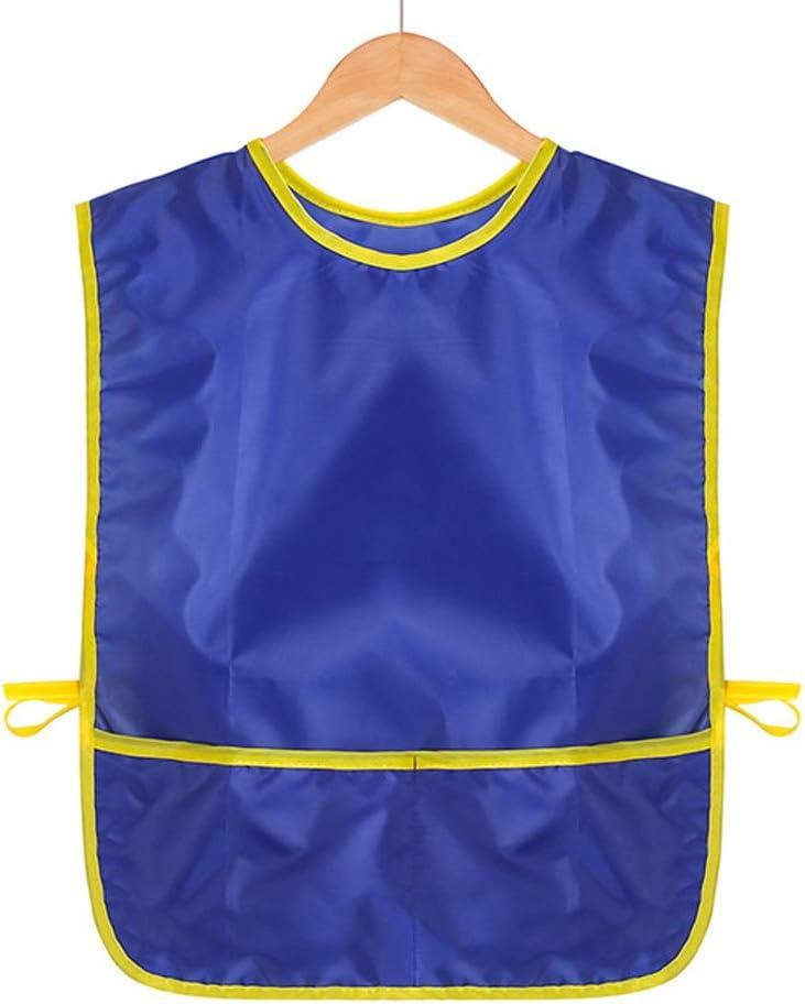 Blu, Suit for 110cm-135cm Yundxi Grembiule Senza Maniche Disegno Pittura Impermeabile Camicie per Bambini