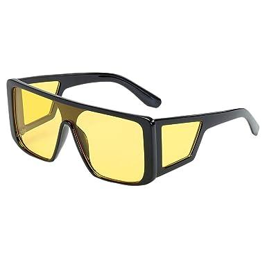 Gafas de sol para Hombre Retro Clásico UV400 Lentes cuadradas personalizadas Todo en uno Gafas de marco grande Ride-hailing Conducción Caminatas ...