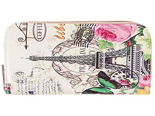 Biglietti Chiusura Alsino Gb gb Eiffelturm Diversi Borsellino Zip 06 22 Carta Geldbörse 01 Per Motivi Donne 22 Con Portamonete Di Credito Moneta Portafoglio Bancanote Gb Bunt Vogel wrqf6Ir