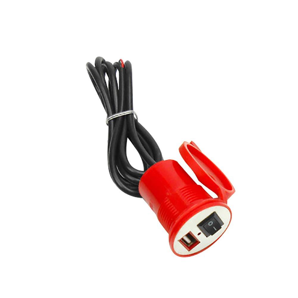 Yiwencult Moto é tanche Alimentation USB Chargeur Port Switch pour té lé phone Portable