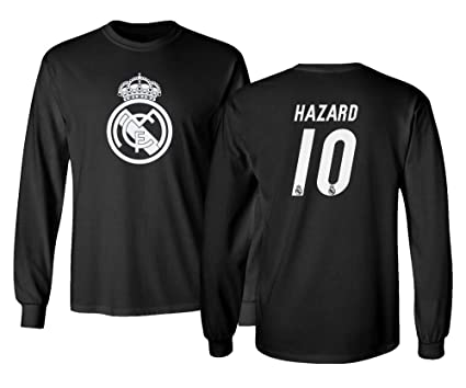 low priced 766cd 2bfd2 Amazon.com : Tcamp Real Madrid Eden Hazard #10 Shirt Soccer ...