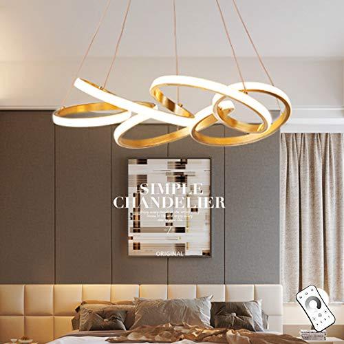 Moderne LED Hanglamp Eettafel Plafondlamp 6-Ring Hanglamp Woonkamer Hanglamp Slaapkamer in Hoogte Verstelbare Hanglamp…