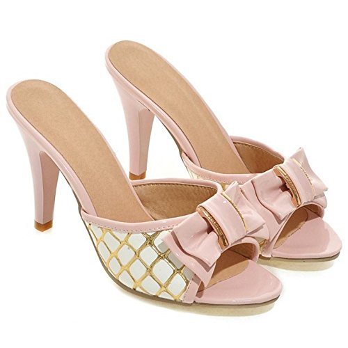 pink Donne Melady Mules 2 Sandali Scivolare Mode Heels su UHqHgS8R