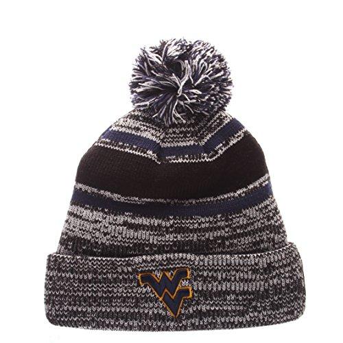 NCAA West Virginia Mountaineers Men's Granite Knit Beanie, One Size, Black/Gray