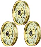 Lawnmower parts 1-633109 (3) Idler Pulley Exmark Replaces 116-4667 1164667 633109 539102610 + (Free E-Book) A Complete Guidance to Take Care of Your Lawn