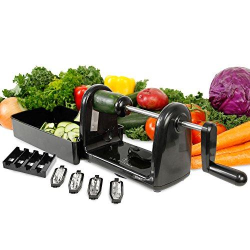 U.S. Kitchen Supply Spiral Master EZ Vegetable Cutter with 5 Versatile Stainless Steel Slicer Blades - Compact, Durable - Make Spiral Veggie Pasta, Spaghetti - Cut Fruit by U.S. Kitchen Supply (Image #1)