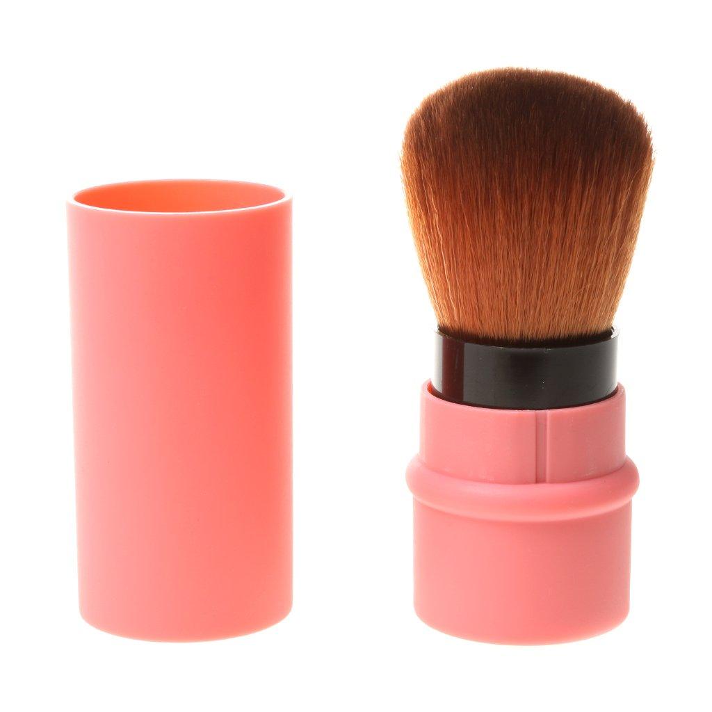 Pinceau Blush Rétractable Brosse Poudre Ombre du Visage Maquillage Voyage - Taille Unique , Rouge Generic