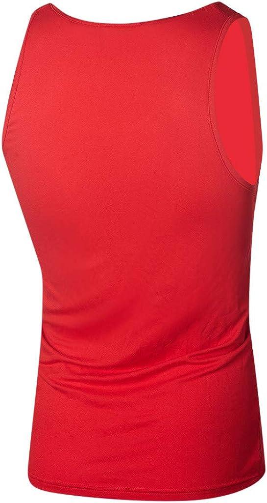 Yoga Fitness Ginnastica Formazione JKLEUTRW Canotte Uomo Canotterie Sportivo Palestra Muscolo Gilet Lettera Stampata Veste Casual Tank Top Senza Manica Estate T-Shirt Canottiera Slim Fit