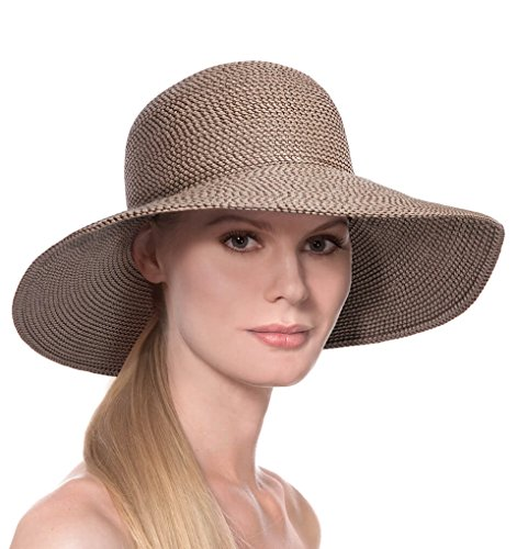 Eric Javits Luxury Fashion Designer Women's Headwear Hat - Hampton - Bark by Eric Javits