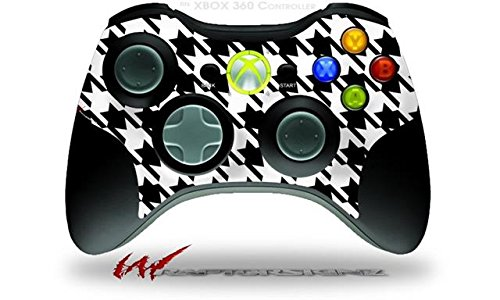 XBOX 360 Wireless Controller Decal Style Skin – Houndstooth Black and White (CONTROLLER NOT INCLUDED)