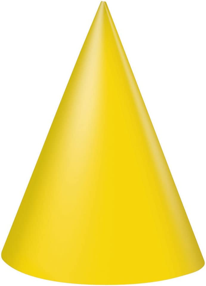 Yellow Party Hats, 8ct: Kitchen & Dining