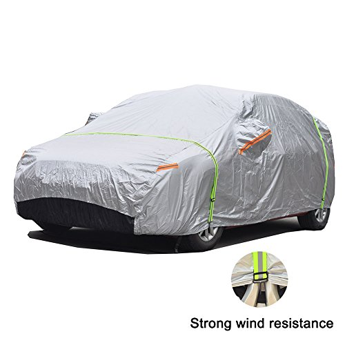 GUNHYI Oxford Car Covers Waterproof All Weather For Automobile, Outdoor And Indoor Fit Sedan Up To 194 Inch, For Honda Civic Camaro Mercedes