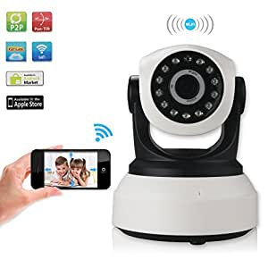 Mousand New Version Baby Monitor Wireless WIFI IP Surveillance Camera Security Cam Video With Two-Way Talking,Infrared Night Vision,Pan Tilt,P2P Wps Ir-Cut Nanny Camera Motion Detection