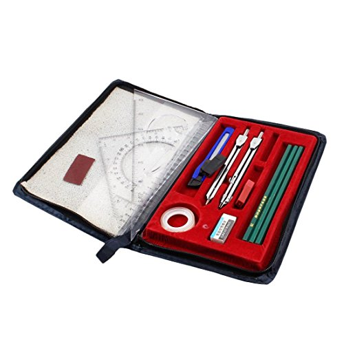 Starsource 16 Pcs Compass and Geometry Kit with Protectiv...
