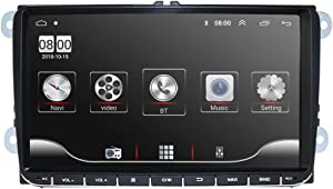 9 Inch Android 10 Car Stereo Radio Video Player GPS Can-Bus Mirrorlink Bluetooth OBD2 Multi Touch Screen for Volkswagen VW Golf Polo Passat Tiguan Jetta Support Backup Rear View Camera