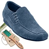 Bundle Lightweight Very Fine Mens Ballroom Salsa Sneaker Dance Shoe Sero102BBX Suede + Shoe Brush + Pouch Blue 10.5 M US