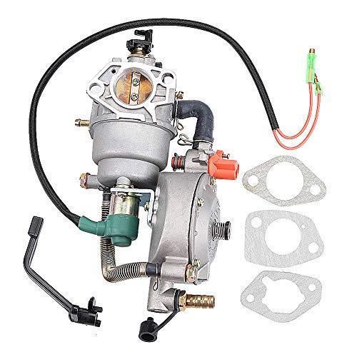 (Harbot GX390 Dual Fuel Carburetor LPG NG Conversion Kit 4.5-5.5KW GX 390 188F Generator Manual Choke)