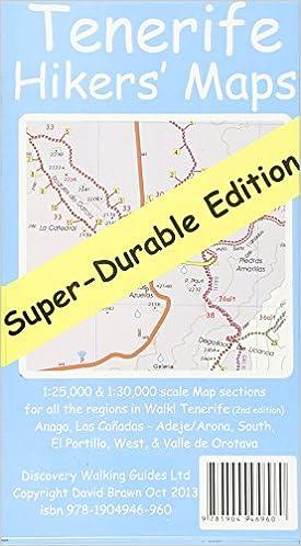 Tenerife Hikers' Super-Durable Maps: Amazon co uk: David