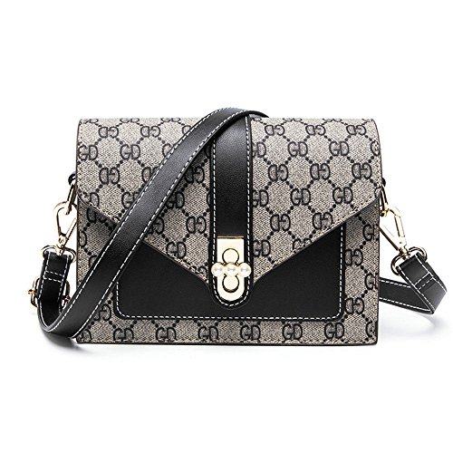 Summer Single Shoulder Bag Woman Bag,Black,200X145X90Mm by SJMMBB (Image #5)