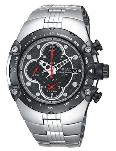 Pulsar Men's PF3527 Tech Gear Alarm Chronograph Silver-Tone Watch