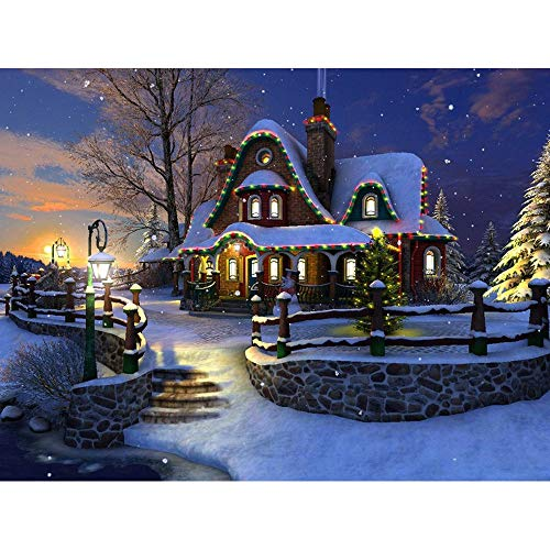 kemilove 5D DIY Diamond Painting Snowman and Winter Snow Scene Cross Stitch Arts Craft Wall Sticker Decor Present