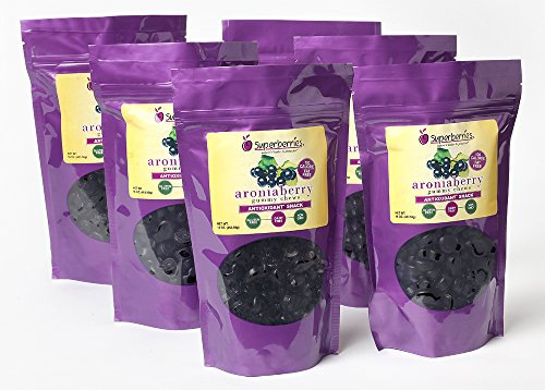 Aroniaberry (Chokeberry) Gummy Chews, (6) 16 Oz by Superberries