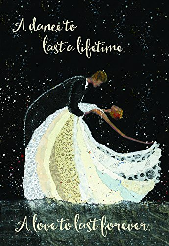(Dance to Last a Lifetime Love Forever Couple 5 x 7 Inch Wedding Cards with Envelopes Set of 6)