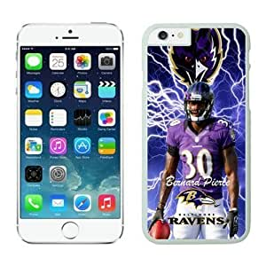 NFL Case Cover For Apple Iphone 5/5S Baltimore Ravens Bernard Pierce White Case Cover For Apple Iphone 5/5S Cell Phone Case ONXTWKHB0247