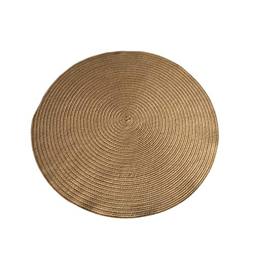 ZCXBB India Imported Handmade Jute Round Carpet Modern Minimalist Entry Door Round Mat American Country Natural Linen Carpet (Color : Beige, Size : ()